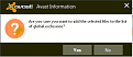 Click Yes to restore and add exclusion
